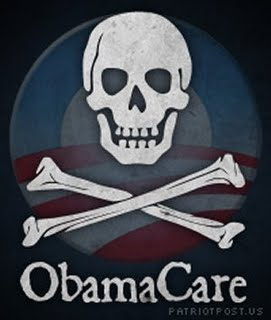 OBAMACARE   SKULL and CROSSBONES